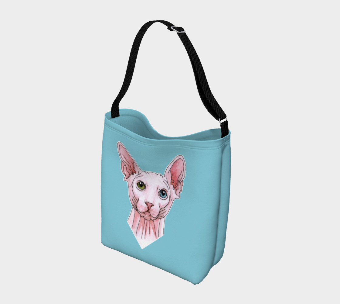 Sphynx cat portrait Day Tote Miniature #3