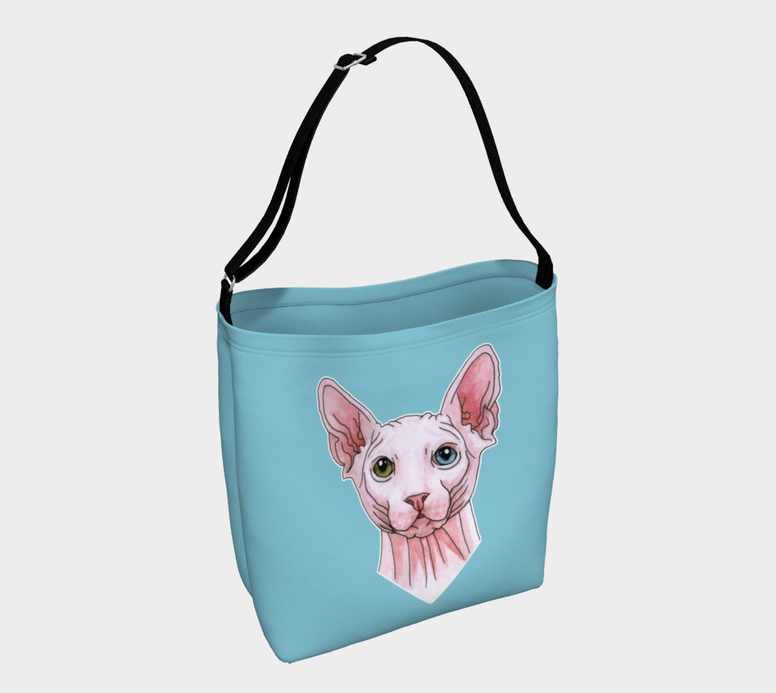 Sphynx cat portrait Day Tote 3D preview