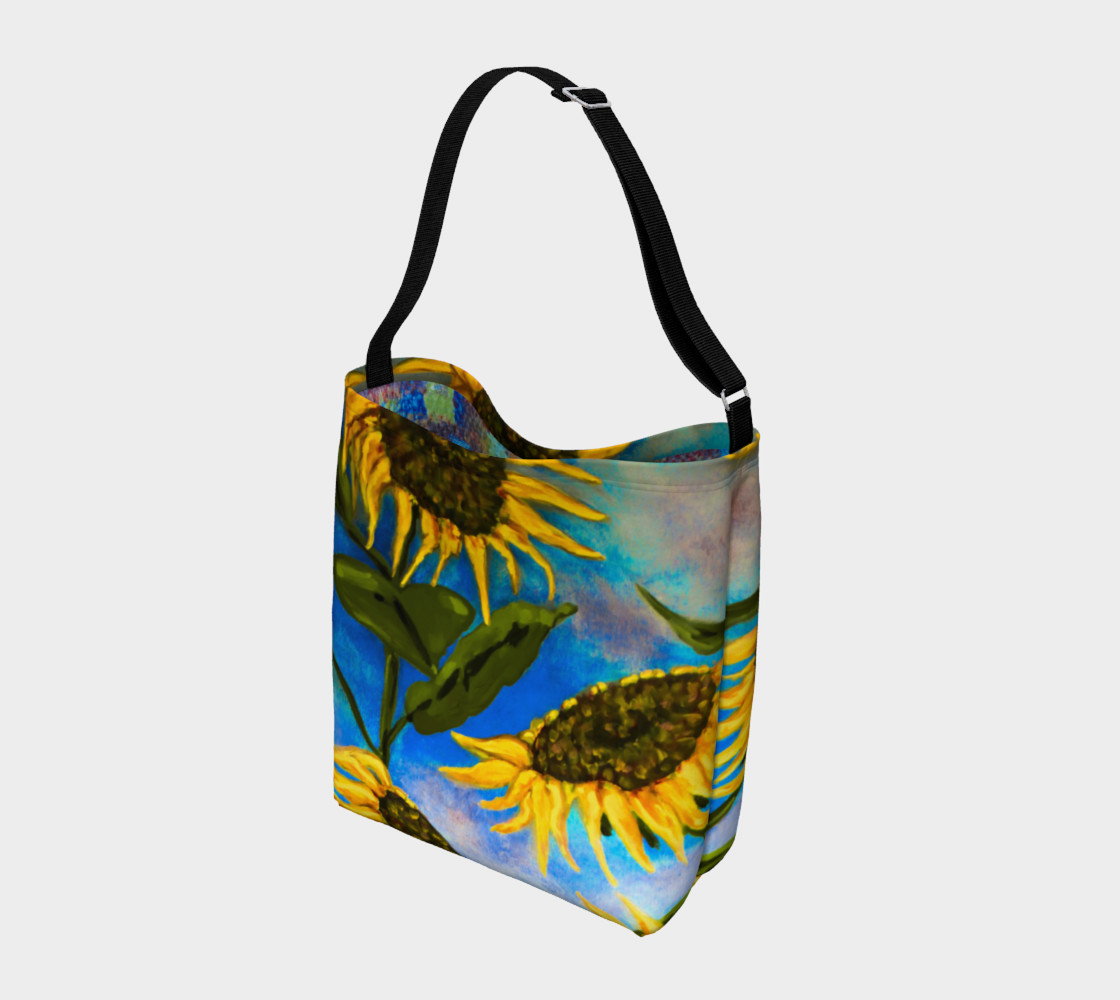 Vibrant Sunflowers Tote Miniature #3