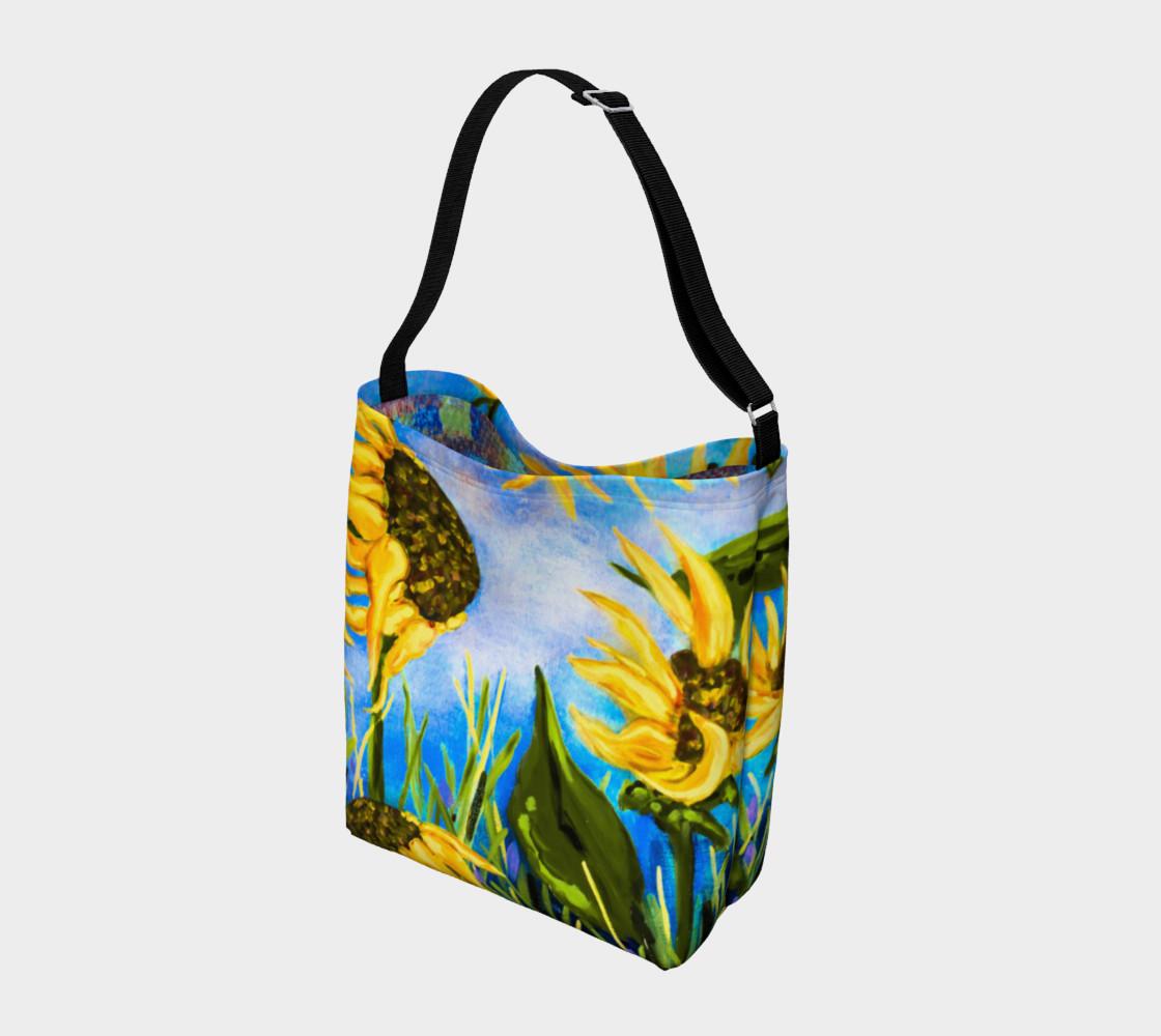 Aperçu de Vibrant Sunflowers 2 Tote #2