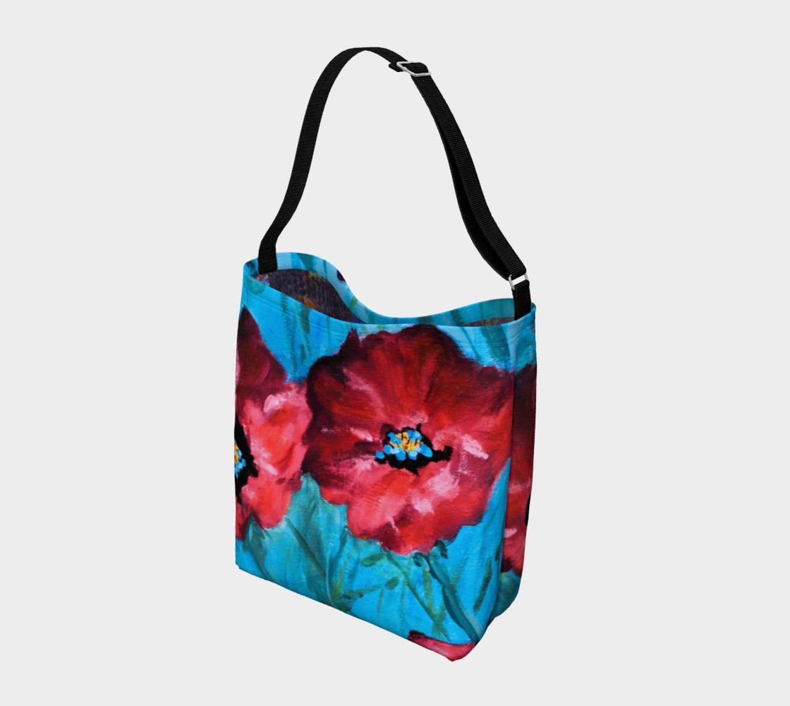 Linda's Poppies Tote Miniature #3