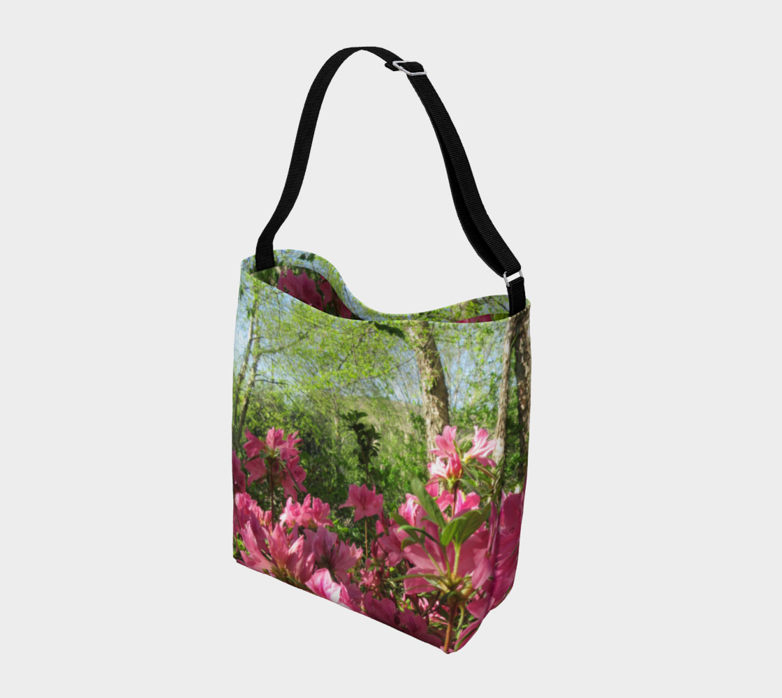 Pink Azalea at the Parthenon 3092 Day Tote preview #2