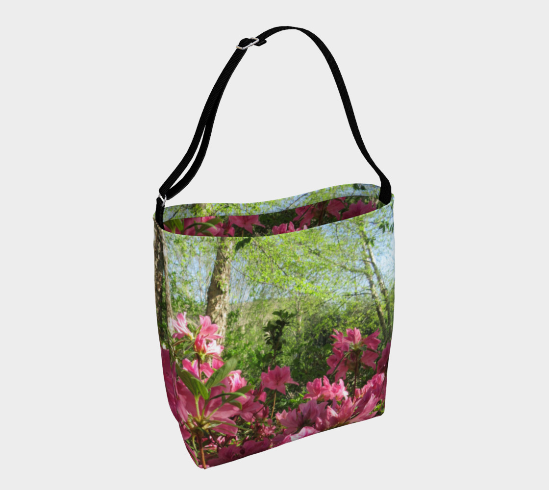 Pink Azalea at the Parthenon 3092 Day Tote preview #1