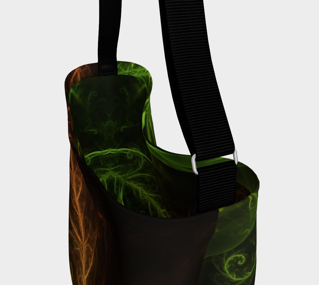 Aperçu de Day Tote Bag with a Fractal Hybrid of Guzmania Tuti Fruitti and Ferns #3
