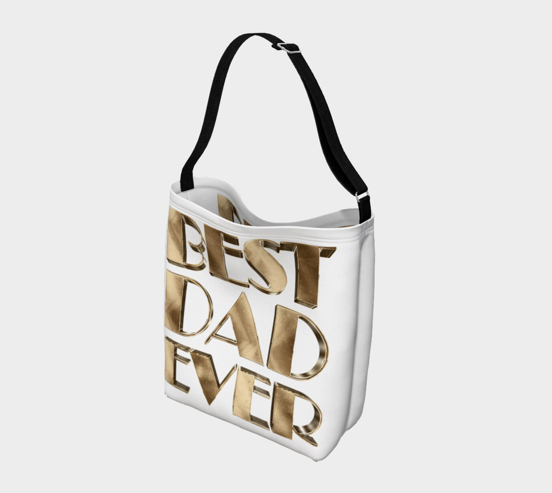 Aperçu de Best Dad Ever Gold Look Elegant Typography #2