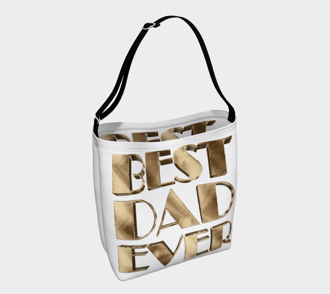 Aperçu 3D de Best Dad Ever Gold Look Elegant Typography