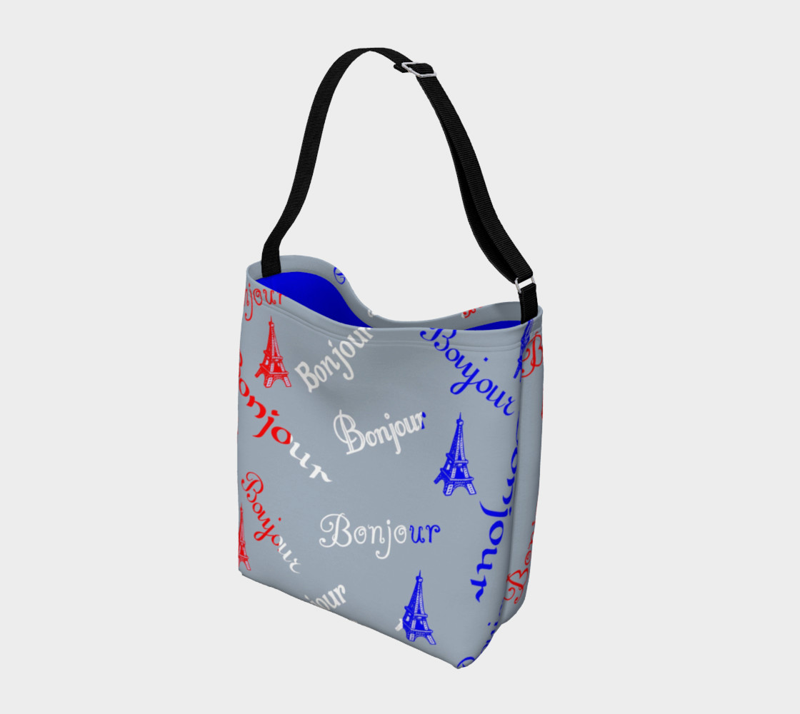 French Flag Bonjour Day Tote preview #2
