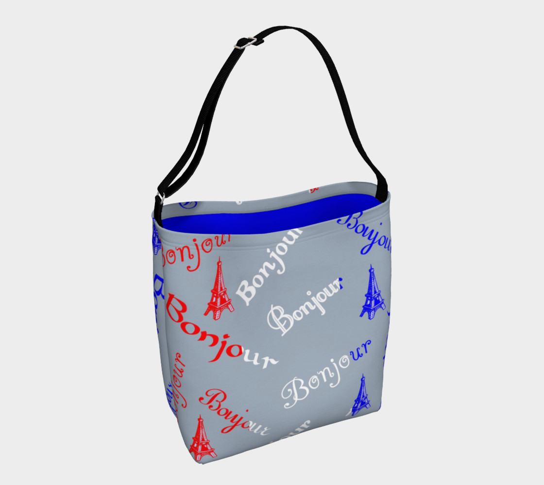 French Flag Bonjour Day Tote preview #1