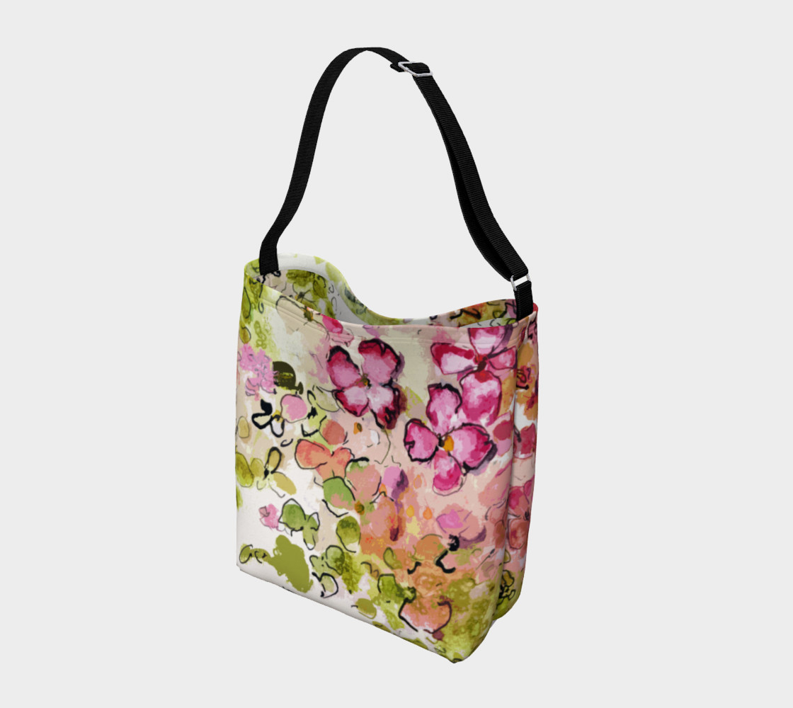 Floral Pink and Green Day Bag Miniature #3
