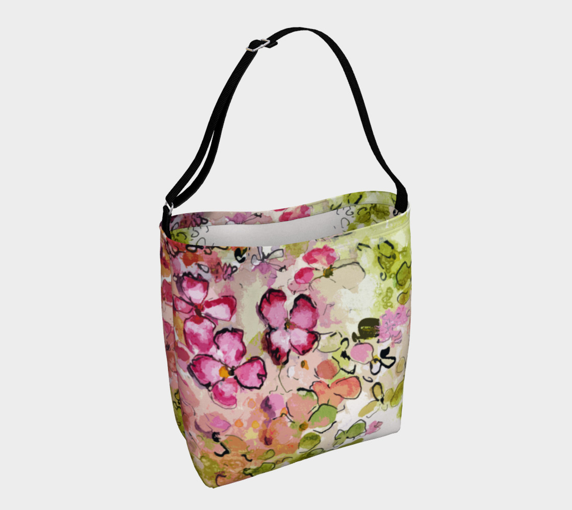 Floral Pink and Green Day Bag Miniature #2