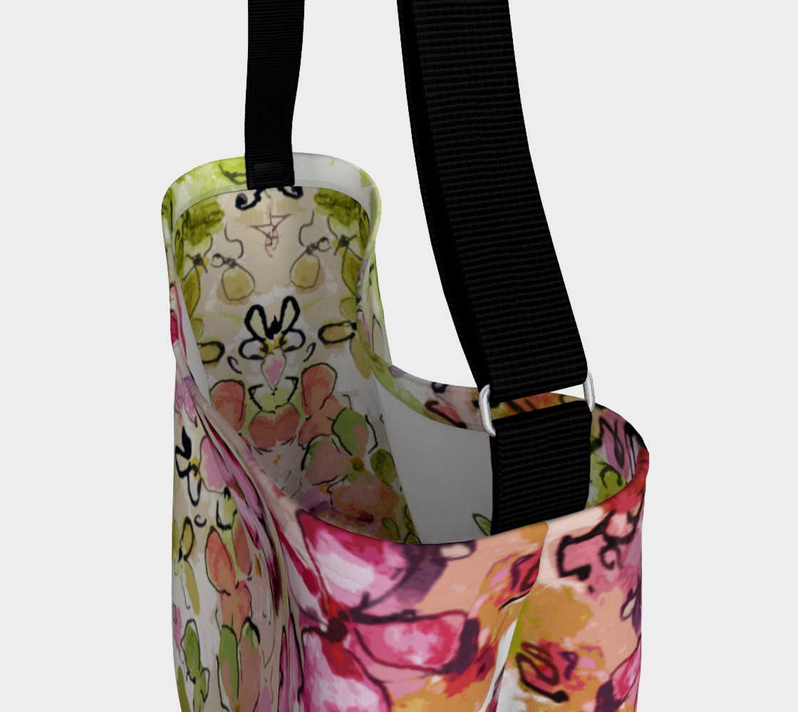 Floral Pink and Green Day Bag Miniature #4
