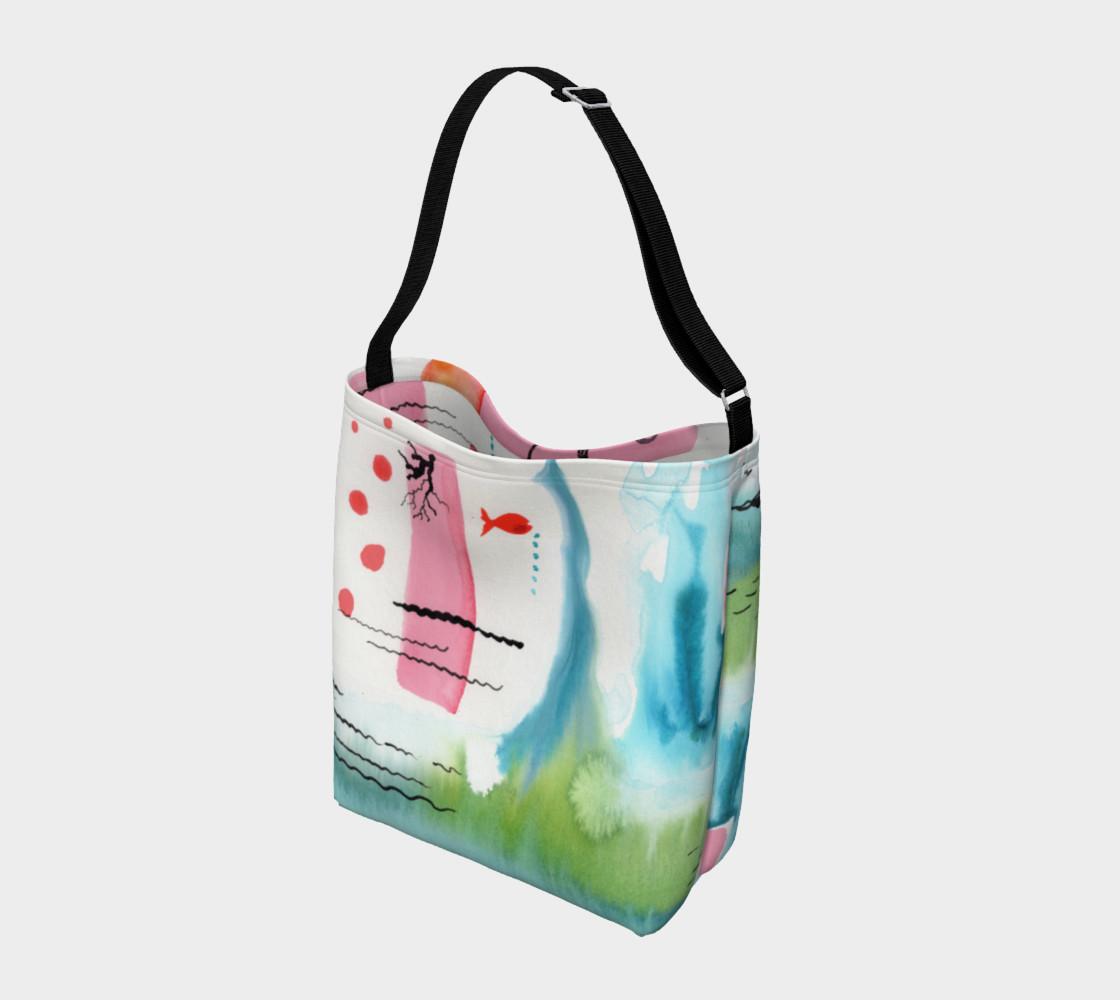 Aperçu de Sun Rising Over Ocean Watercolor Design Day Bag #2