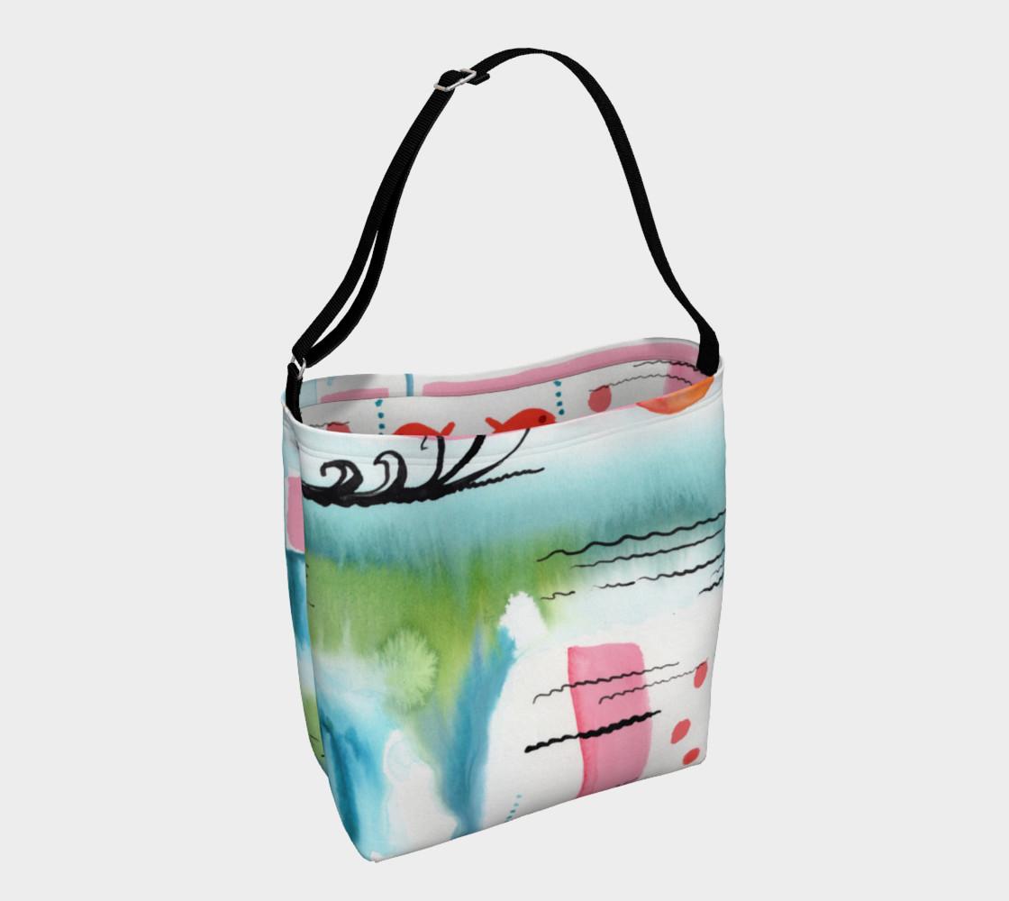 Aperçu de Sun Rising Over Ocean Watercolor Design Day Bag #1