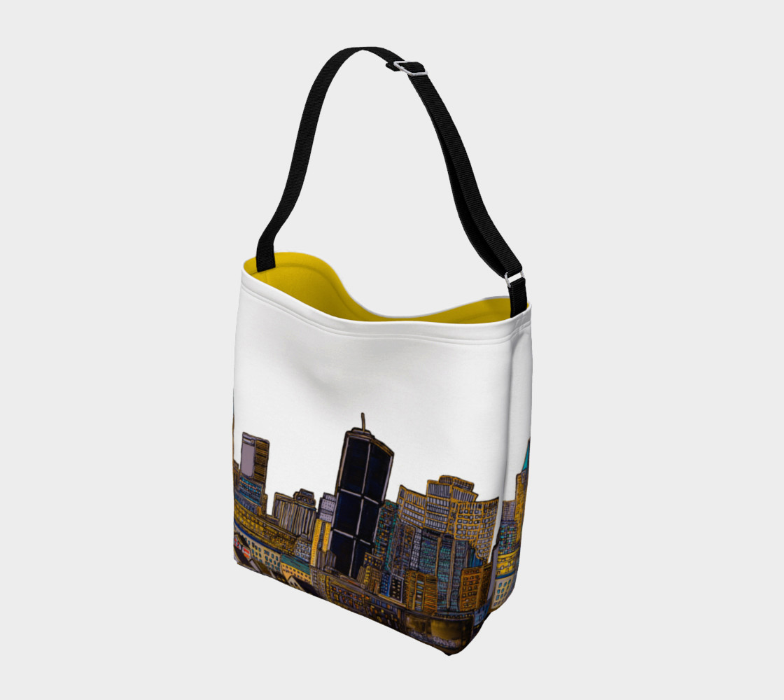 Aperçu de Bag White - Sac Blanc MTL jaune Intérieur et Blanc extérieure , yellow and white Bag MTL #2
