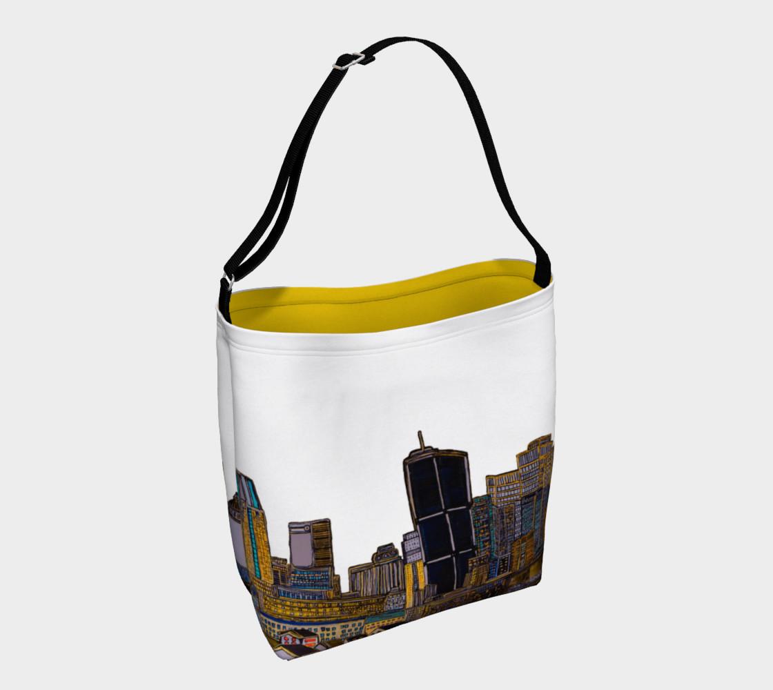 Aperçu de Bag White - Sac Blanc MTL jaune Intérieur et Blanc extérieure , yellow and white Bag MTL #1