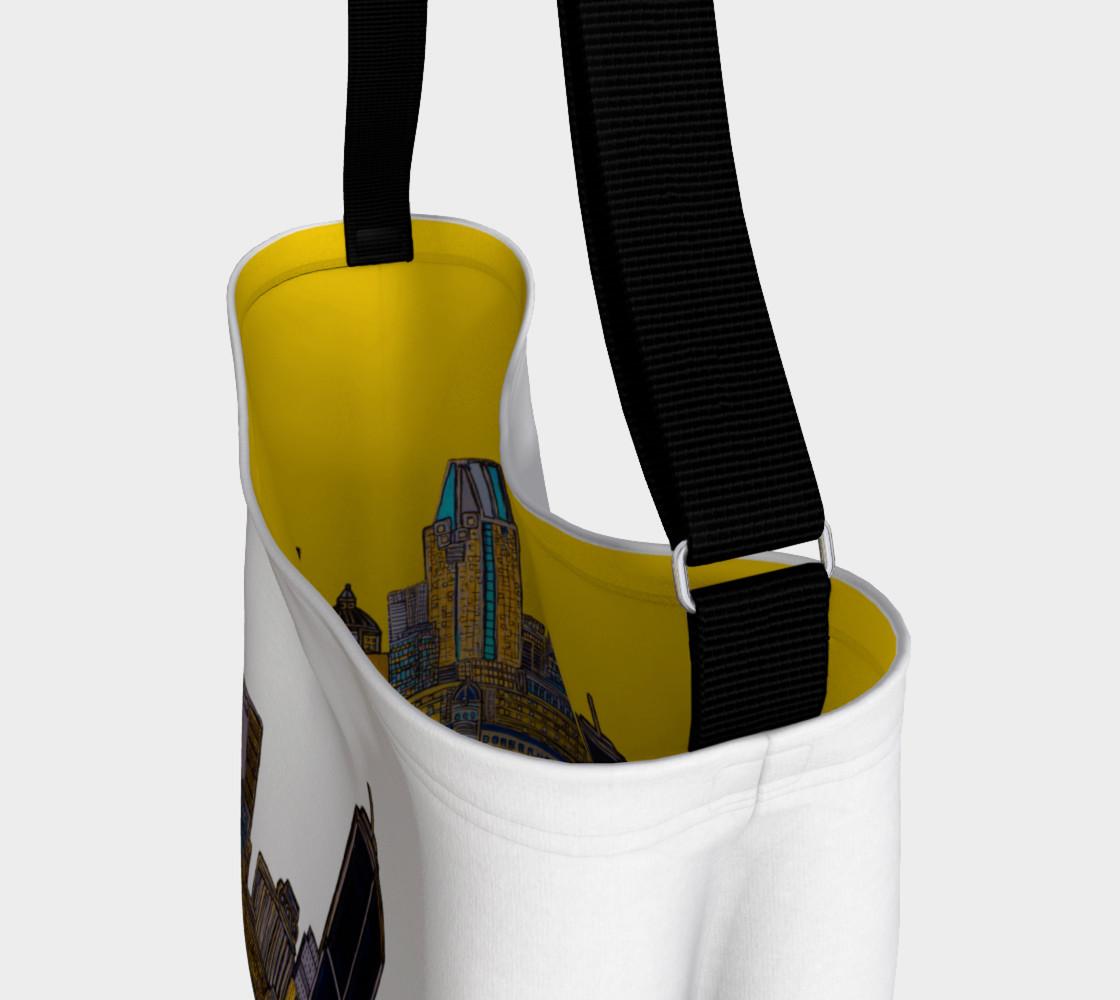 Aperçu de Bag White - Sac Blanc MTL jaune Intérieur et Blanc extérieure , yellow and white Bag MTL #3