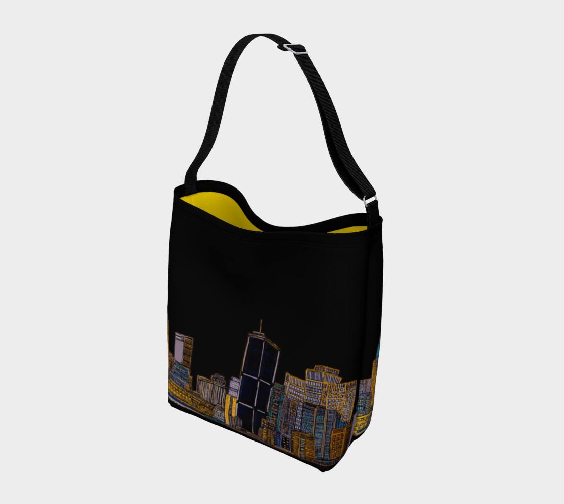 Aperçu de Sac Noir - Black Bag MTL JAUNE - YELLOW AVEC RUE INTERIEUR #2