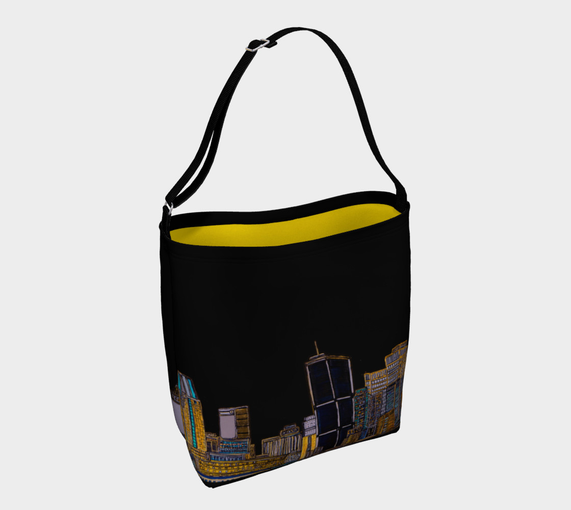 Aperçu de Sac Noir - Black Bag MTL JAUNE - YELLOW AVEC RUE INTERIEUR #1