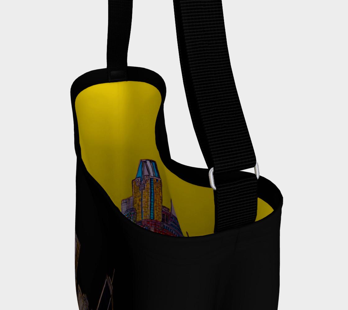 Aperçu de Sac Noir - Black Bag MTL JAUNE - YELLOW AVEC RUE INTERIEUR #3
