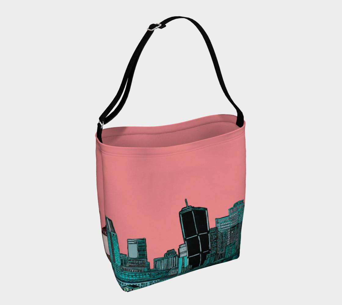 Aperçu de Mtl Bag - Sac Rose city & turquoise Pink - Reversible   #1