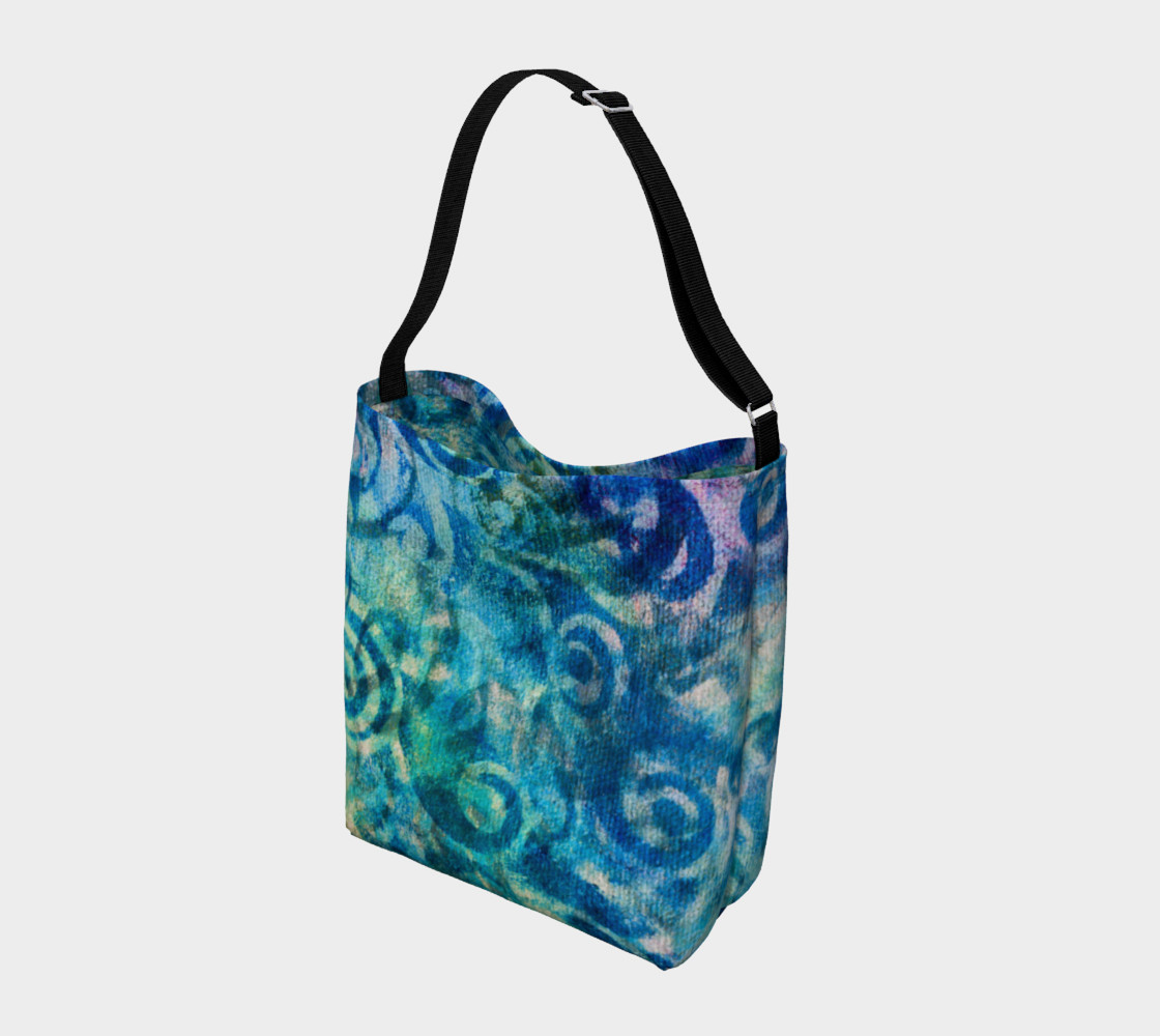 Blue Swirl 2 Tote preview #2
