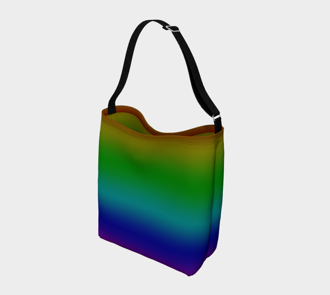 Dark Rainbow Ombre Day Tote preview #2
