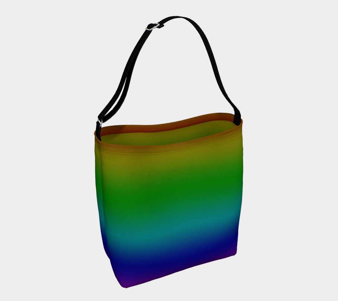 Dark Rainbow Ombre Day Tote preview #1