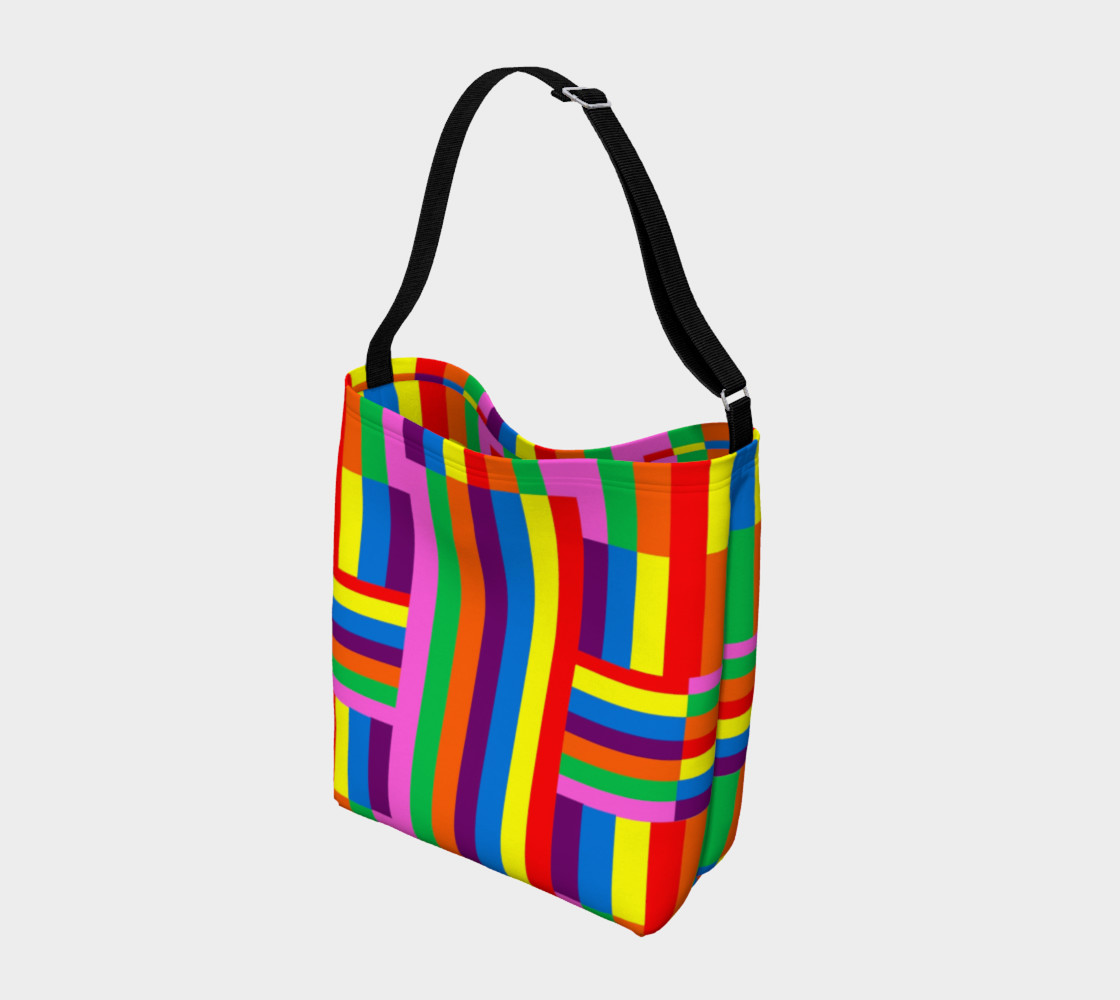 Colorful Rainbow Stripe Abstract preview #2