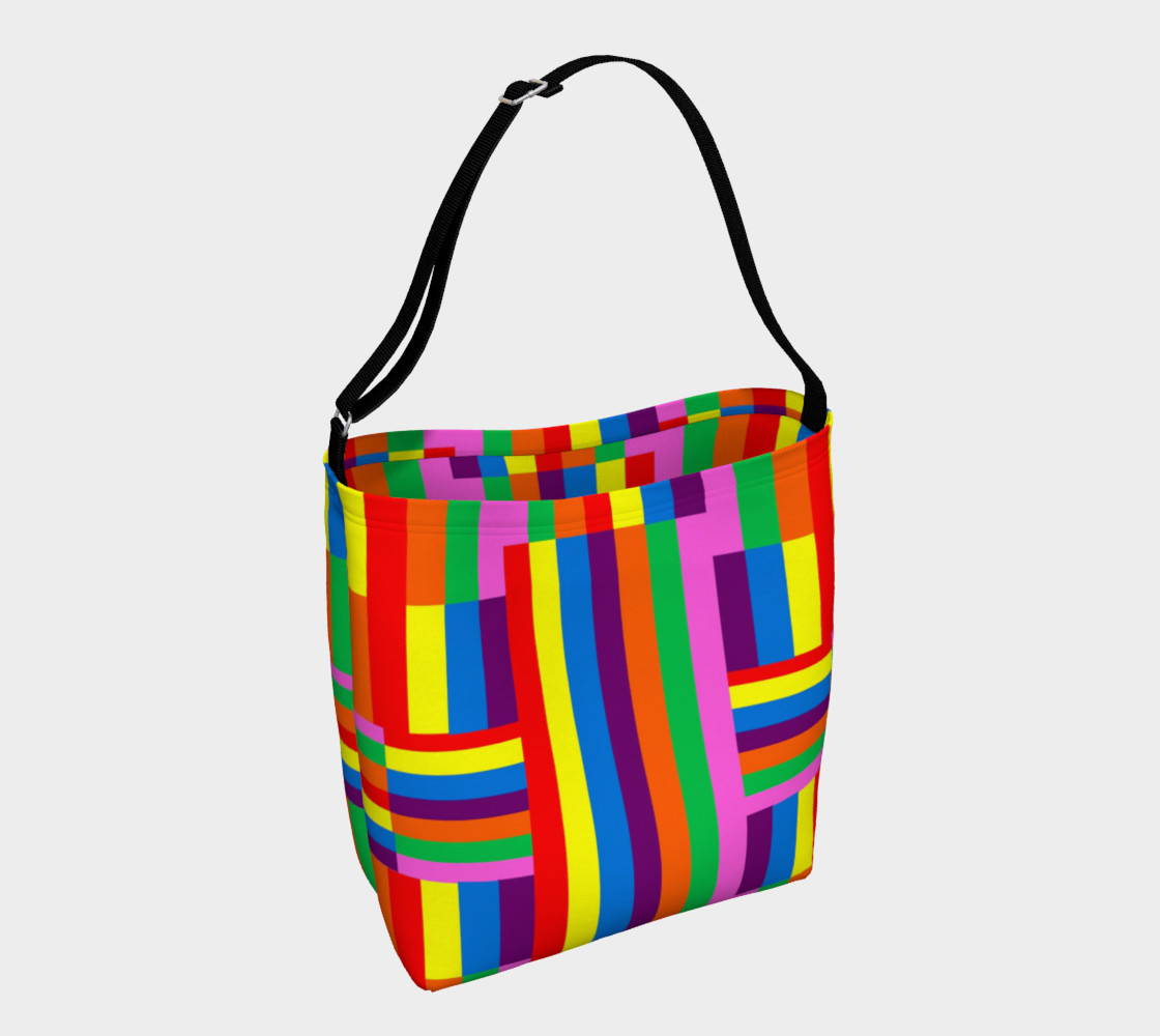 Colorful Rainbow Stripe Abstract 3D preview