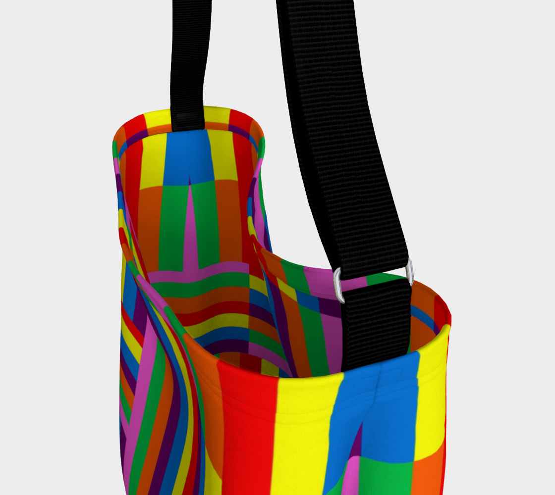 Colorful Rainbow Stripe Abstract preview #3