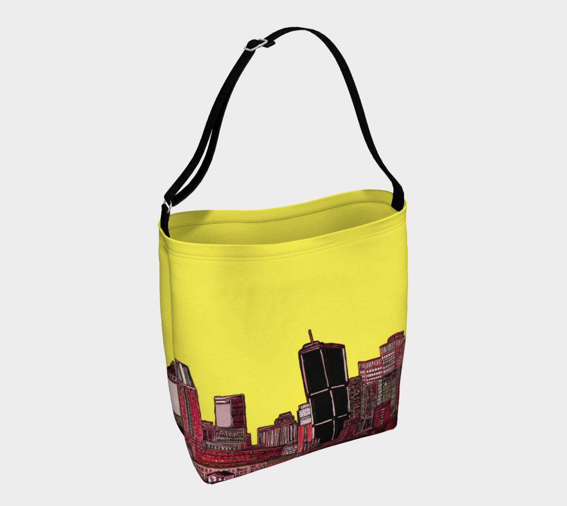 Aperçu de Sac - Tote Bag Montréal Jaune Yellow int/xt Inside / outside #1