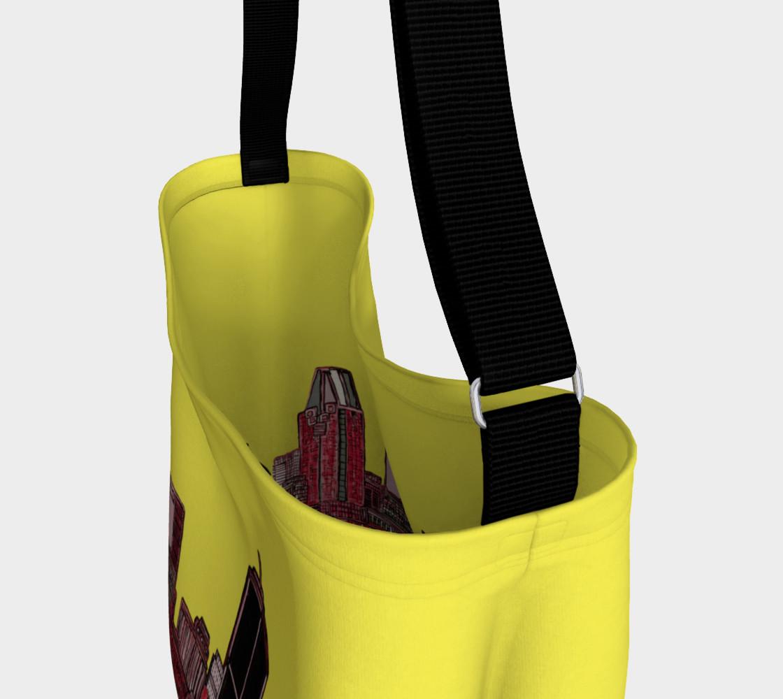 Aperçu de Sac - Tote Bag Montréal Jaune Yellow int/xt Inside / outside #3