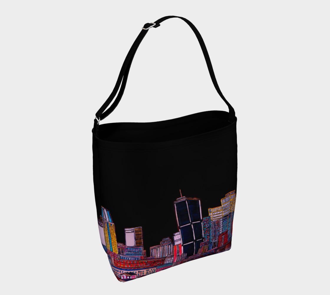 Aperçu de Sac Tout Noir - Bag All Black MTL  Montréal Tote #1
