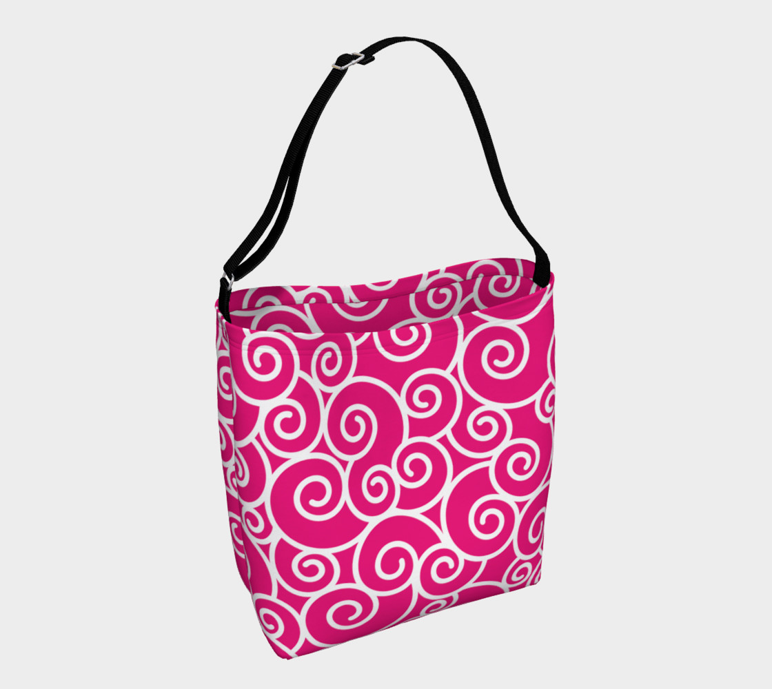 Bright Pink and White Swirls preview #1