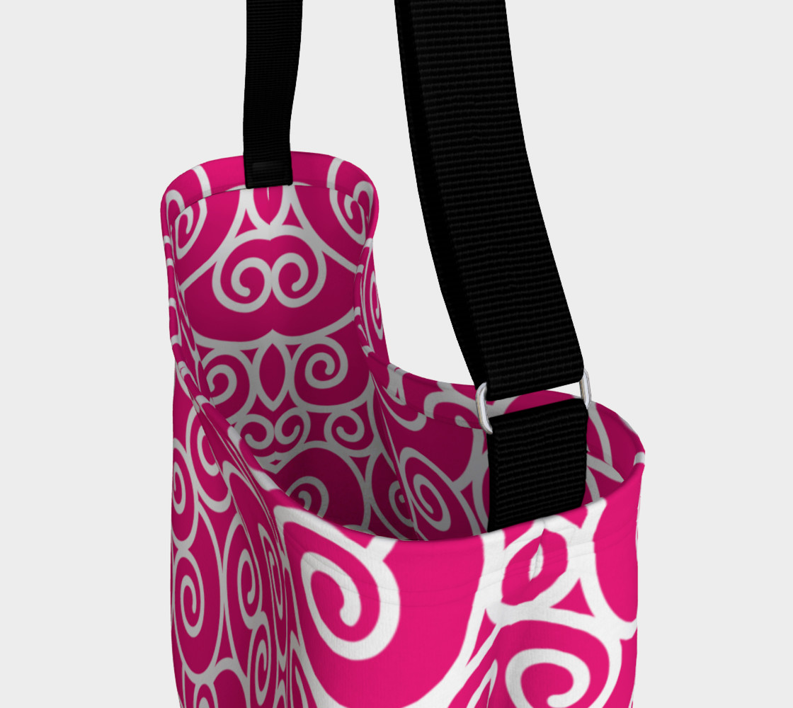 Bright Pink and White Swirls preview #3