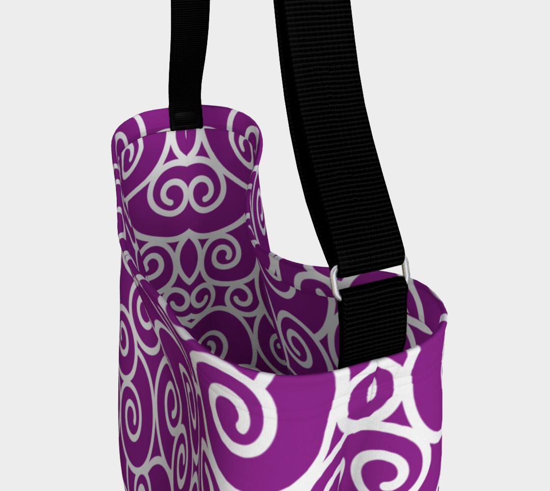 Bright Purple and White Swirls preview #3