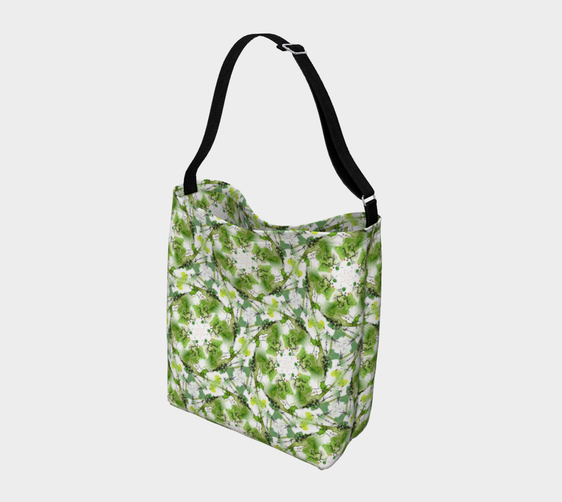 Aperçu de Organic Green Pattern Day Bag #2