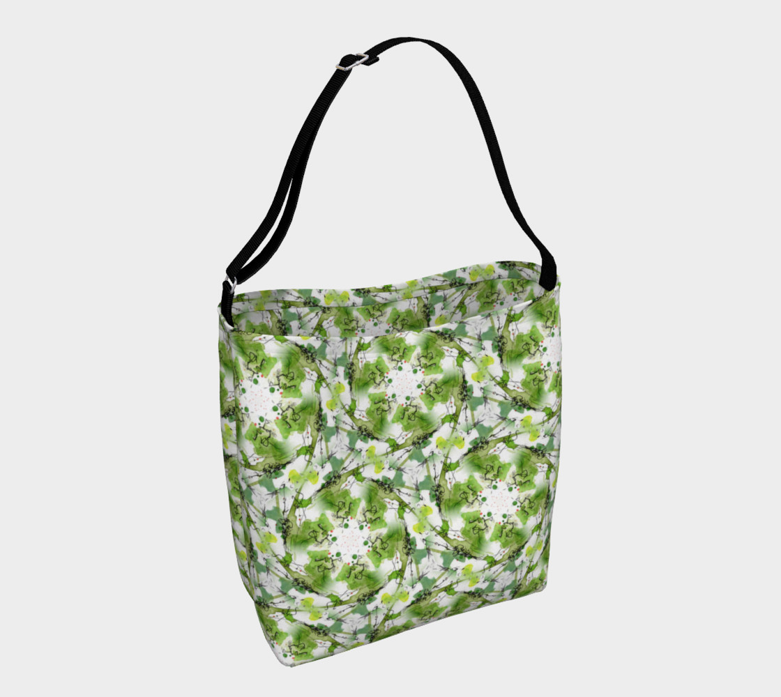Aperçu de Organic Green Pattern Day Bag #1