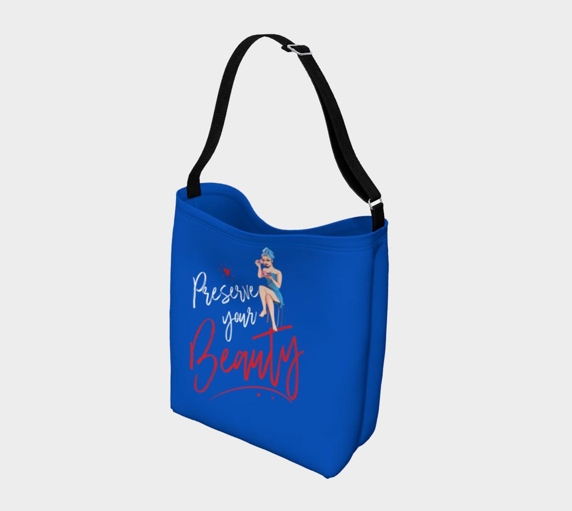 Aperçu de Preserve Your Beauty (Blue Tote Bag) #2