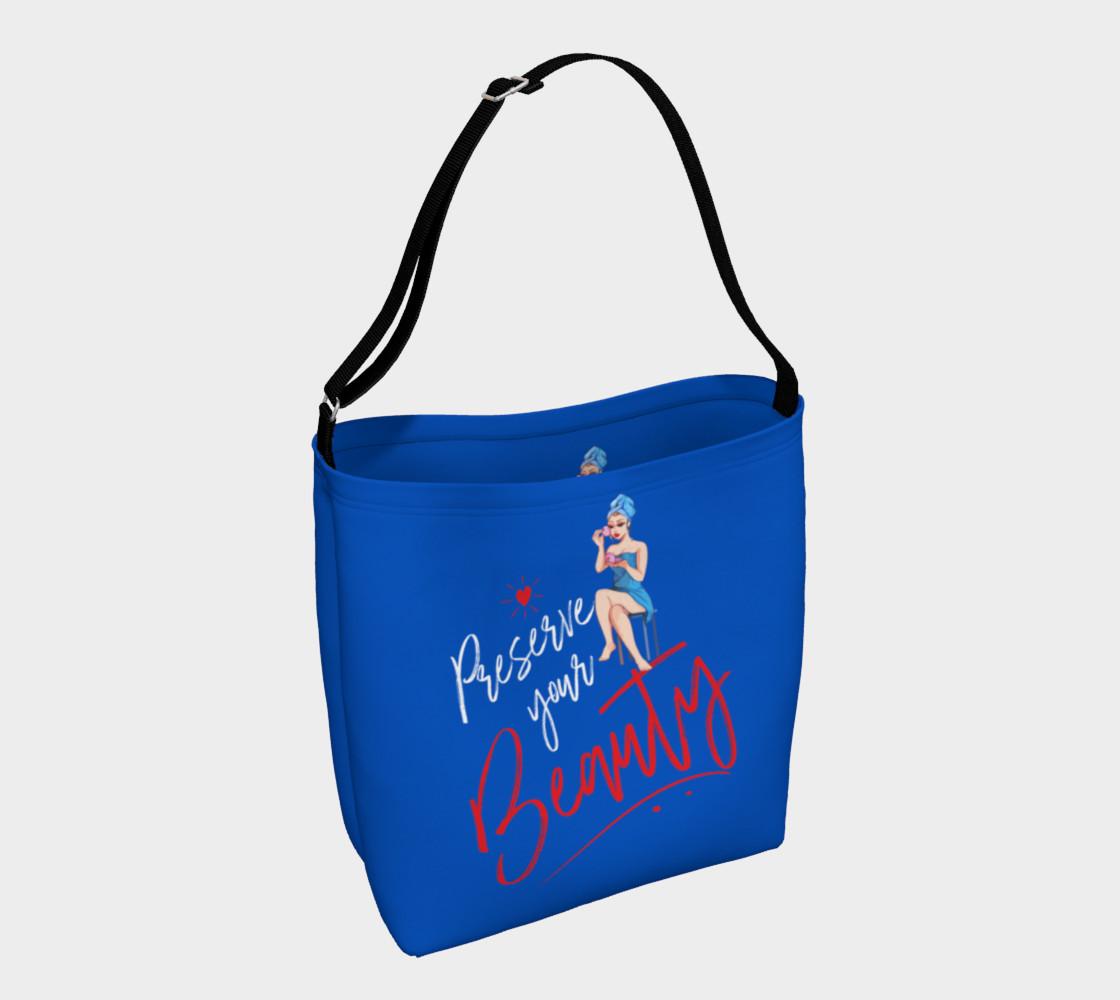 Aperçu de Preserve Your Beauty (Blue Tote Bag) #1