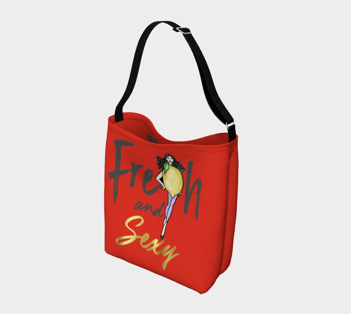 Lemon Fresh & Sexy (Red Tote Bag preview #2
