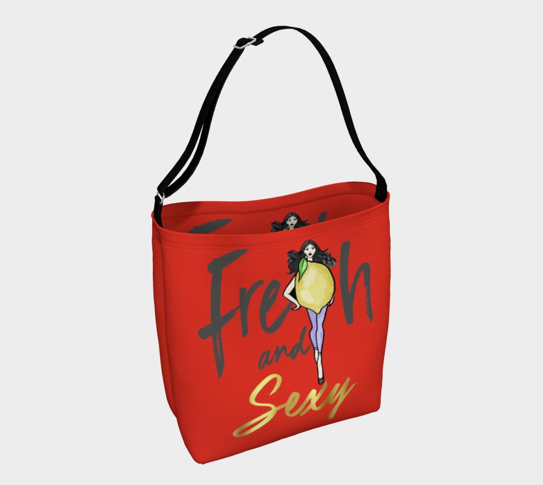Lemon Fresh & Sexy (Red Tote Bag preview #1