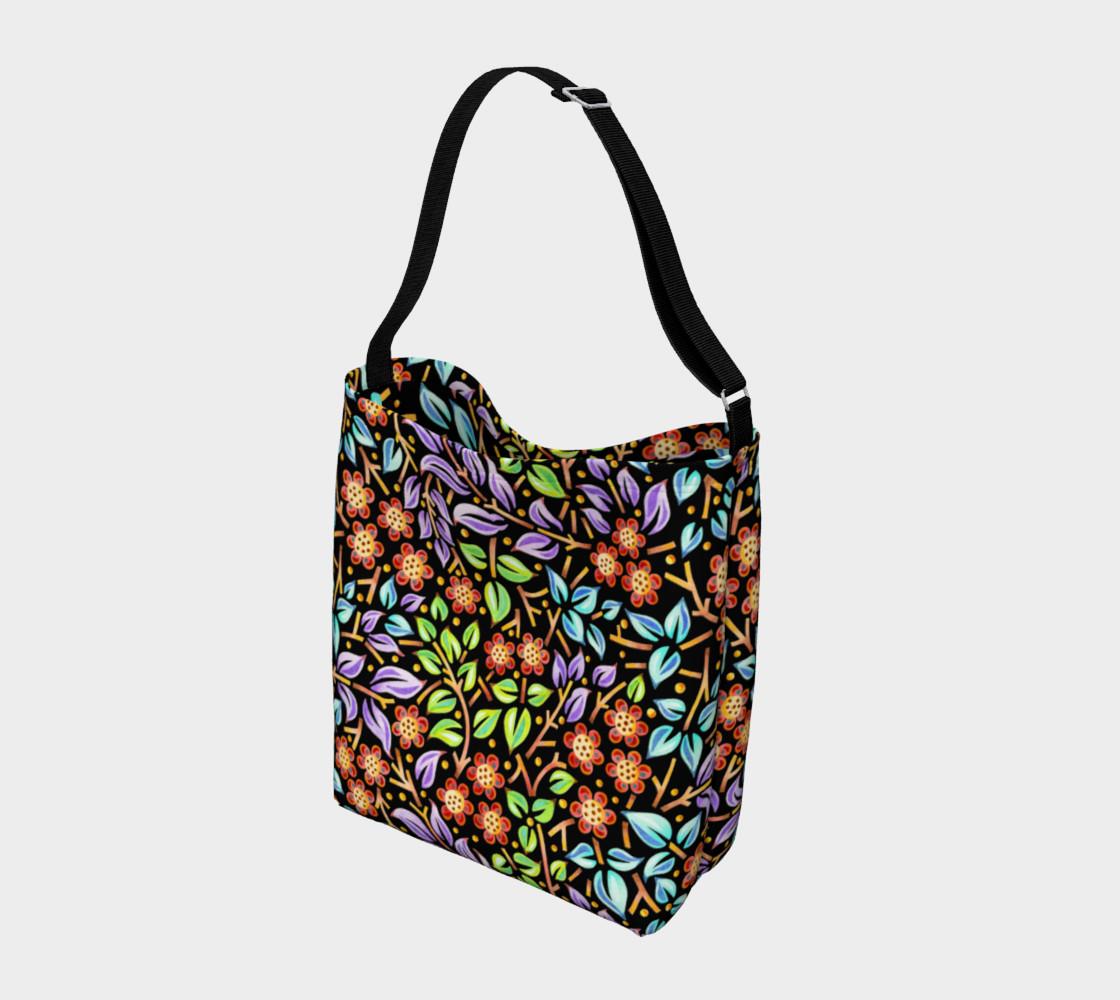 Aperçu de Filigree Floral Tote Neoprene Bag small print #2