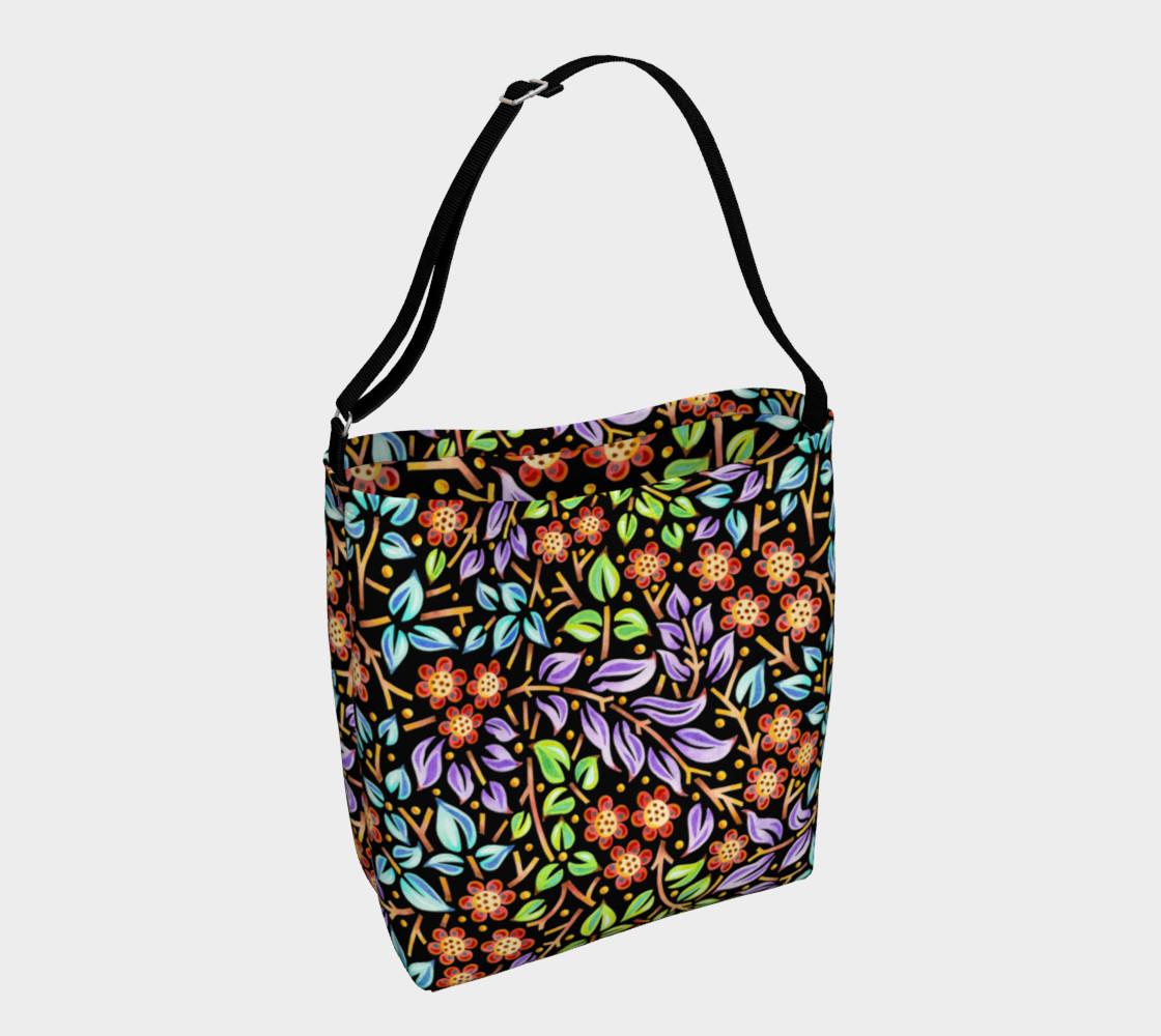 Aperçu de Filigree Floral Tote Neoprene Bag small print #1