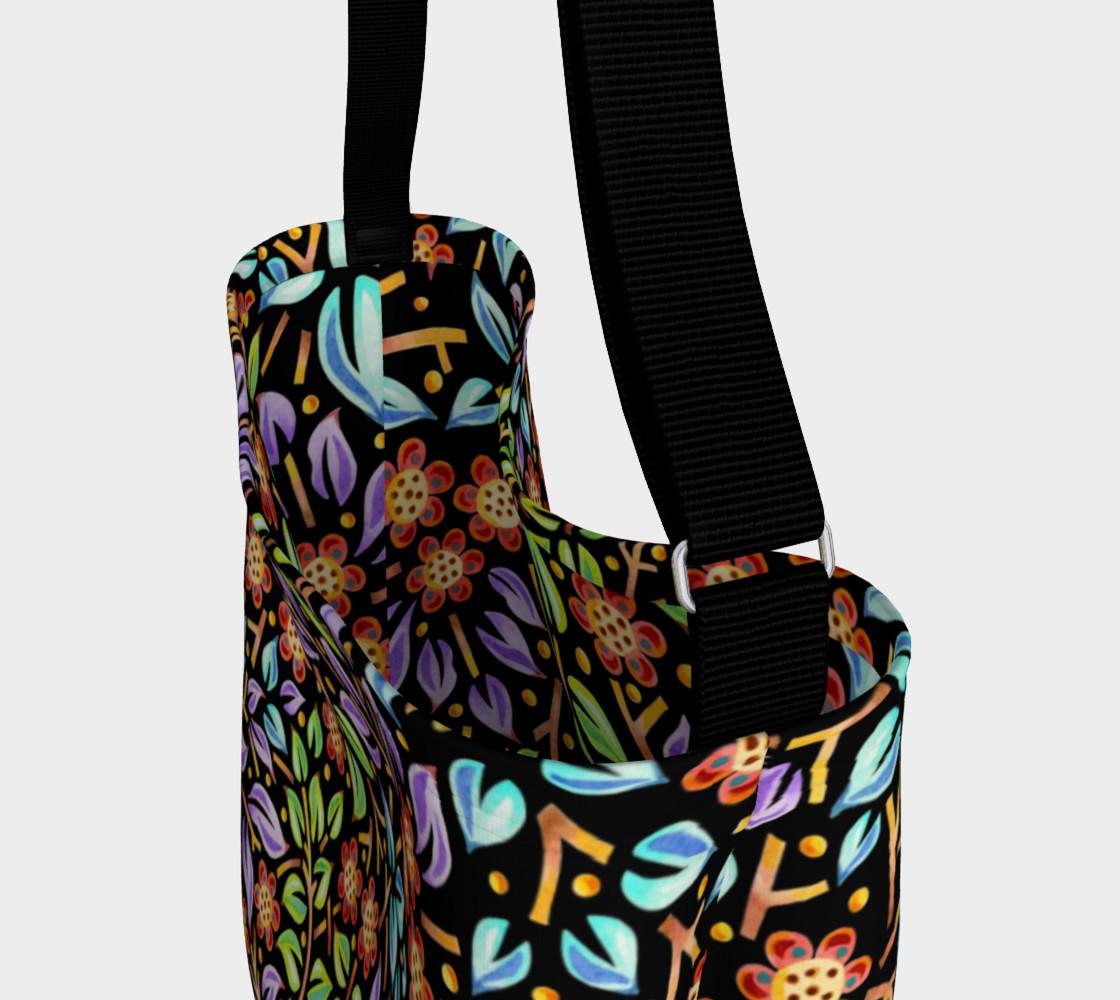 Aperçu de Filigree Floral Tote Neoprene Bag small print #3