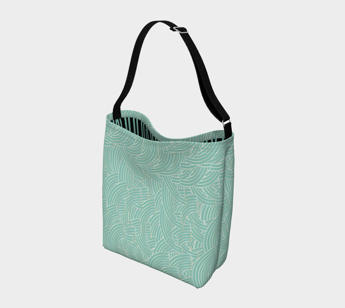 Mint Silver Art Deco Tote preview #2