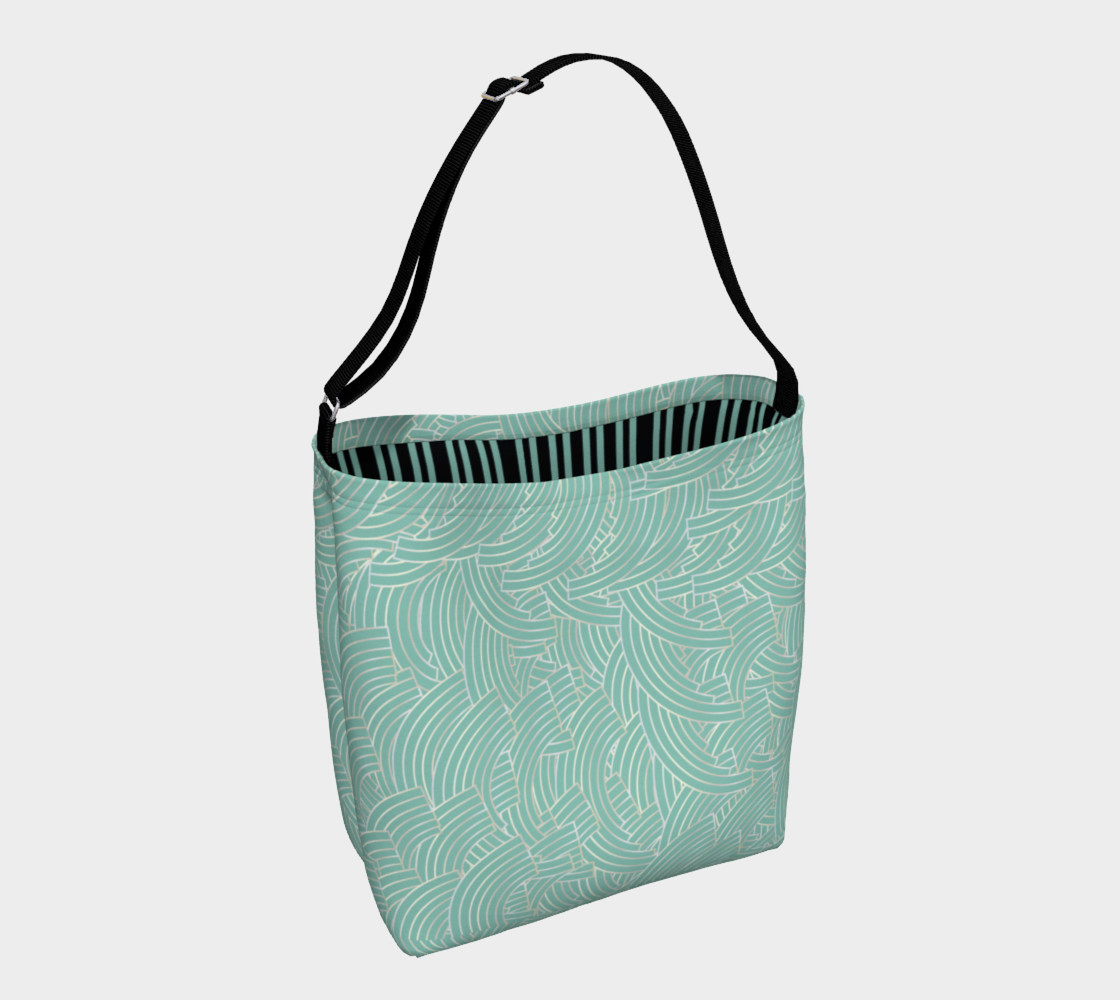 Mint Silver Art Deco Tote preview #1