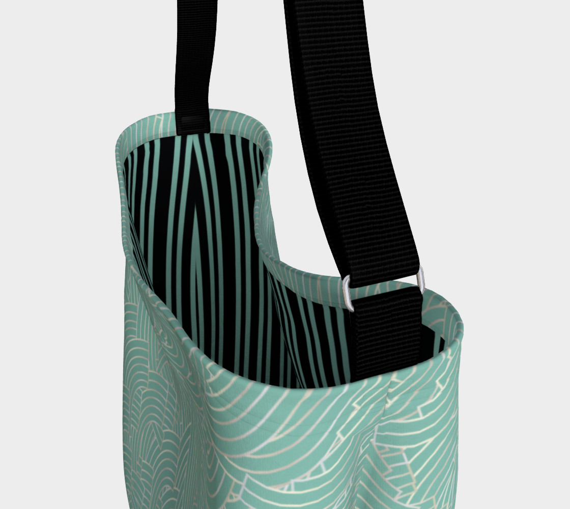 Mint Silver Art Deco Tote preview #3
