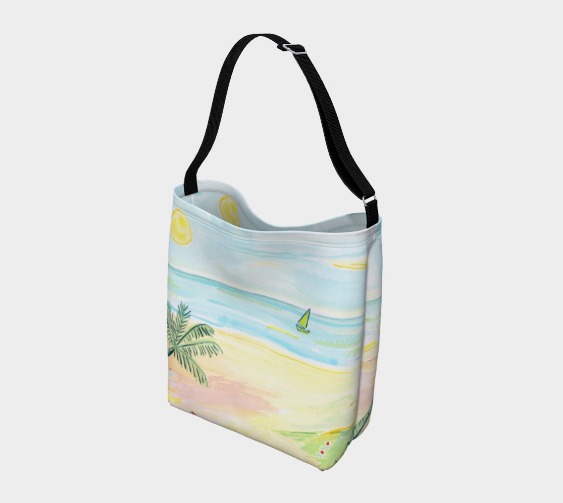 Beach Day Watercolor Day Tote preview #2