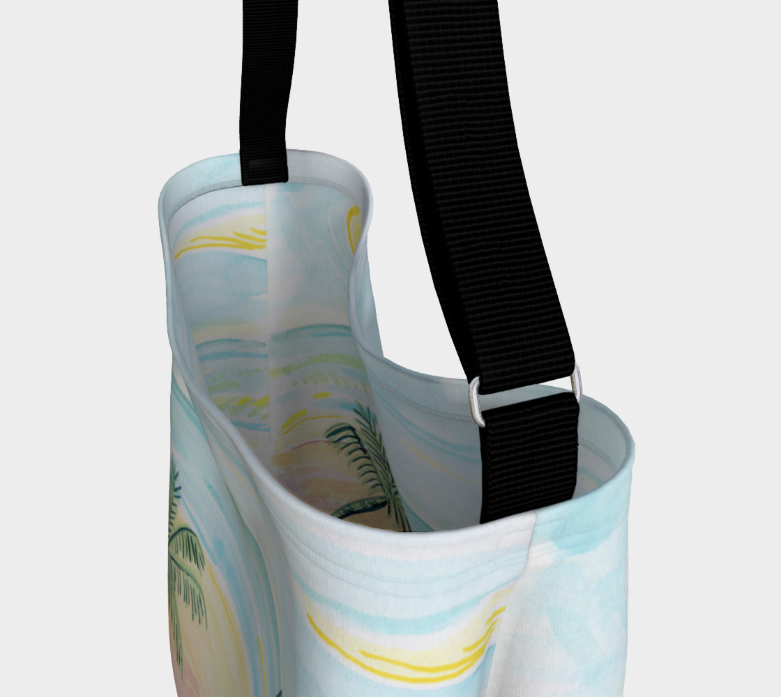 Beach Day Watercolor Day Tote preview #3
